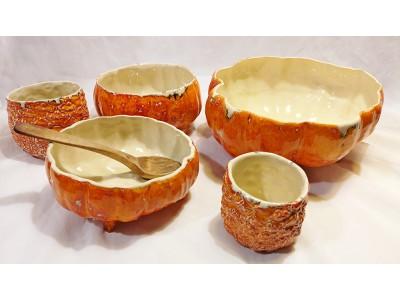 Ceramic tableware series 'Pumpkins'
