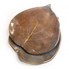"Set saucers-leaves ""Autumn old"""