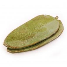 """Set saucers-leaves """"Green olive"""""""