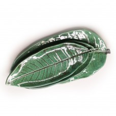"""Set saucers-leaves """"Green stone"""""""